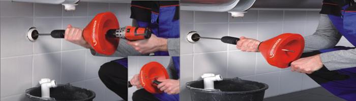 ROSPI H E acc Dispozitiv profesional de desfundat țevi | ROSPI H+E PLUS | Rothenberger - Unilift